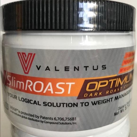 Valentus Slimroast Optimum Dark Weight Loss Nwt